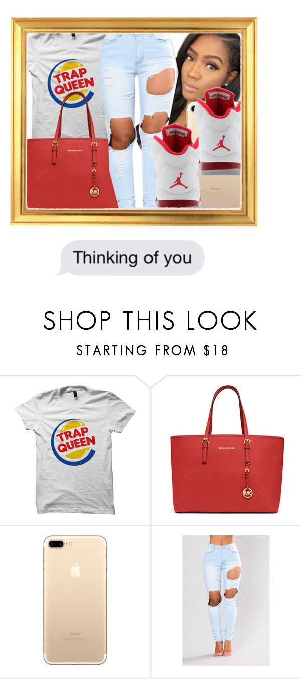 """""""she's my trap queen """" by melaninbaddie ❤ liked on Polyvore featuring MICHAEL Michael Kors and Retrò"""