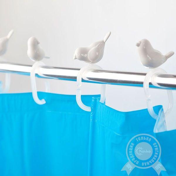 Крючки для душевой занавески Peeking Birds