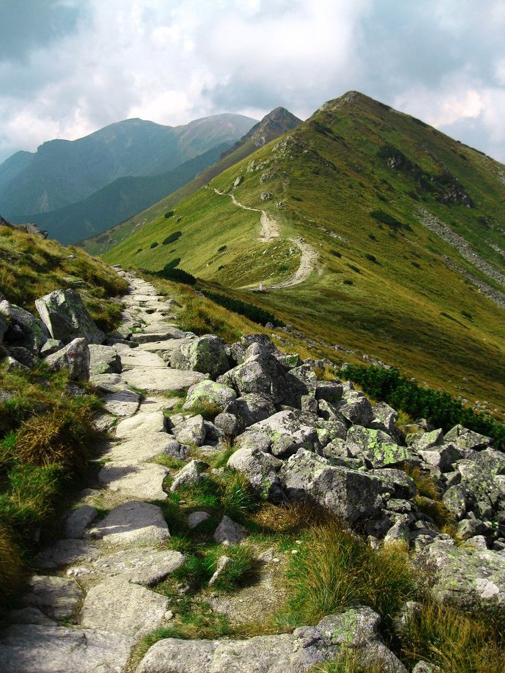 Path from Kasprowy Wierch to Kopa Kondracka, Tatry, Poland