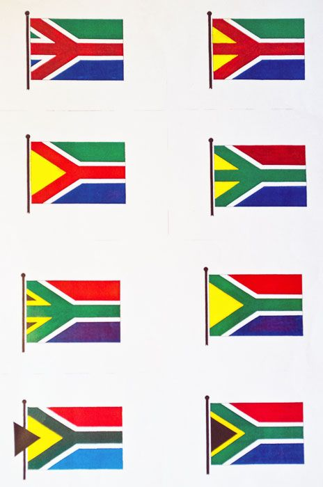 Brownell's flag sketches. The man who made South Africa's flag