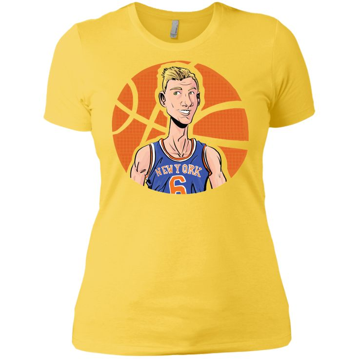 Kristaps Airzingis Porzingis KP6 T-shirt Jersey, New York Knicks, NBA NYK-01 Next Level Ladies' Boyfriend Tee