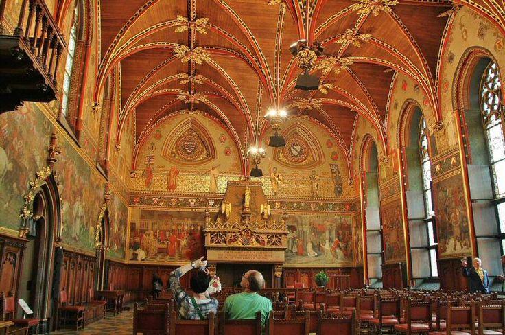 Sala Gótica del Ayuntamiento de la ciudad de Brujas.