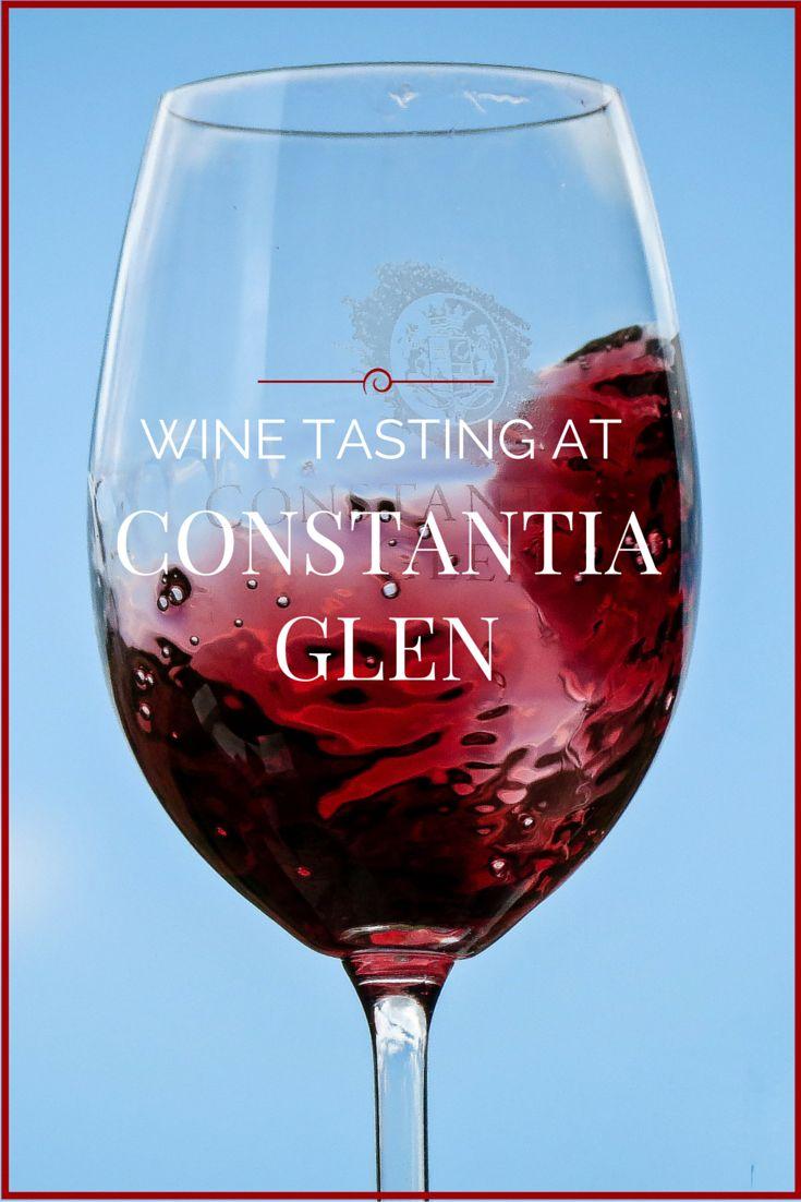 Wine Tasting at Constantia Glen.
