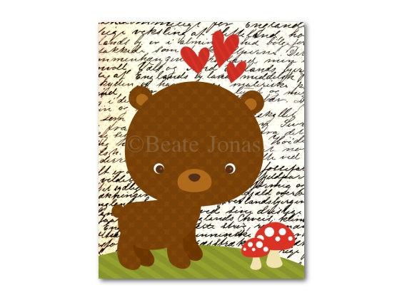 Printable Nursery Art  Little Brown Bear by CuteMemories on Etsy, $8.00