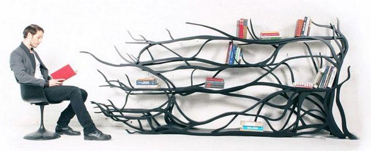 .: Bookshelves, Bookshelf Design, Sebastian Errazuriz, Contemporary Furniture, Books Shelves, Interiors Design, Trees Branches, Shelves United, Handmade Furniture