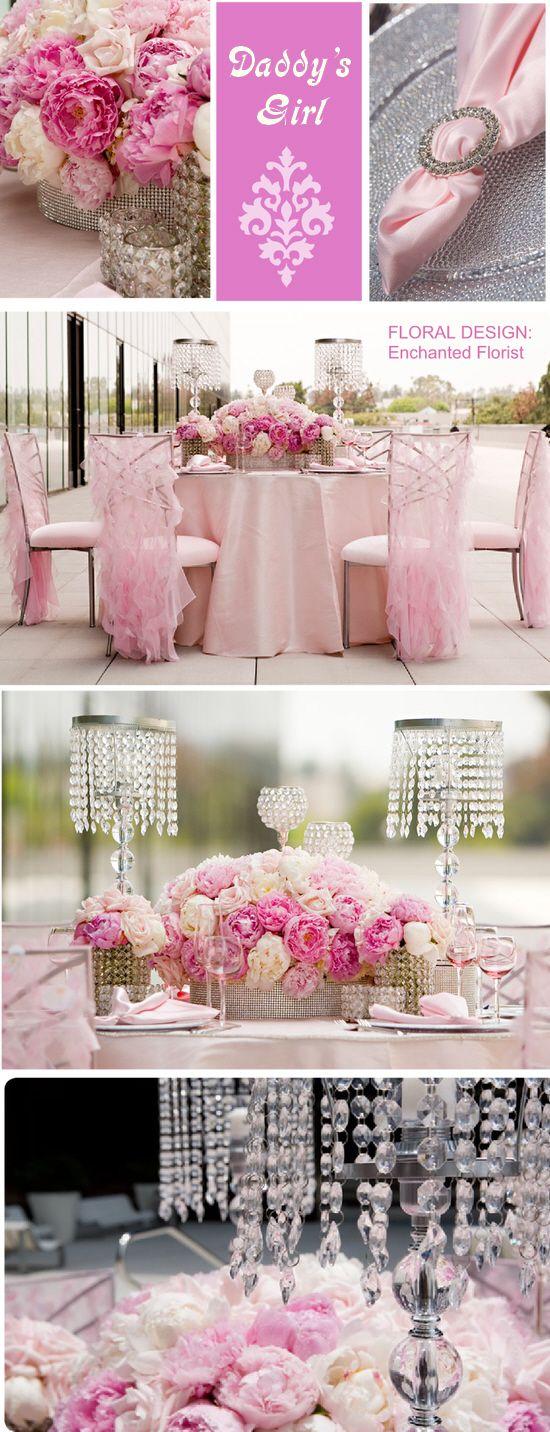 Best pink flower centerpieces ideas on pinterest