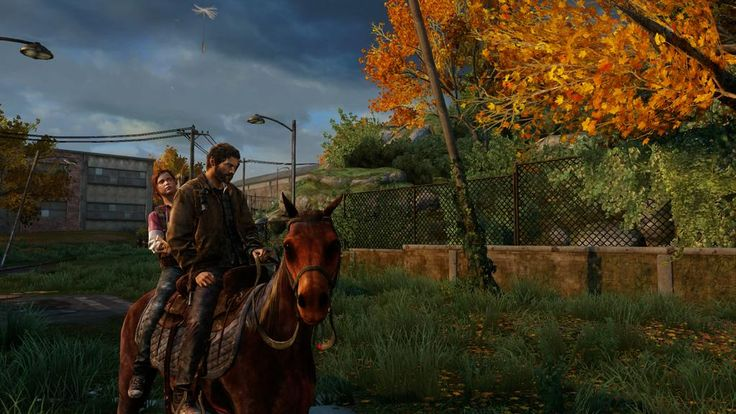 Joel and Ellie riding a horse. Screenshot by: Vinko Krobot  #action #screenshot #thelastofus