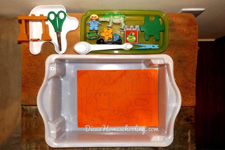 Atividade Coordenação Mesa Sensorial Sombras Brinquedos Educação Infantil Domiciliar
