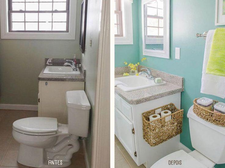 224 melhores imagens sobre Decoração Banheiro no Pinterest  Banheiros, Pra -> Banheiro Pequeno Reforma
