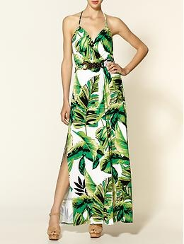 Milly Halter Banana Leaf Print Maxi Dress | Piperlime