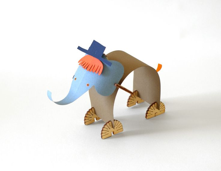 Paper elephant by Elsa Mora  Paper Characters.