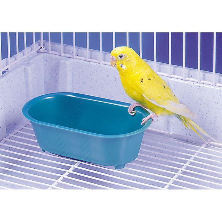 Penn Plax BA513 Plastic Bird Bath With Mirror
