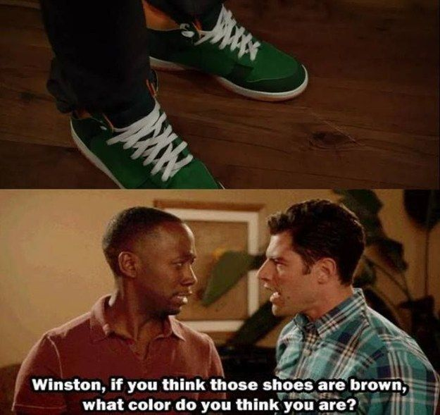 "When we found out Winston was colour blind. | 28 ""New Girl"" Quotes Guaranteed To Make You Laugh Every Time"