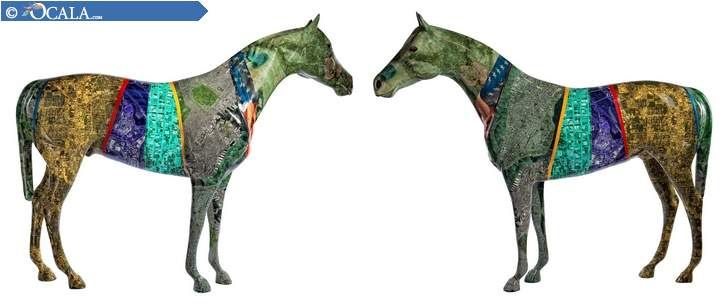 """""""Ten Years From Above"""" by Kent Weakley/Sponsored by: Benefit Advisors. """"Ten Years From Above is a graphical collage of geographical points of interest from the past ten years, since the first Horse Fever project of September, 2001."""" #MarionCounty"""
