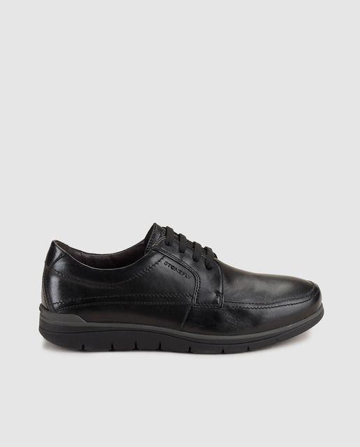Zapatos de cordones muy flexibles en piel, con sistema bluesoft y plantilla extraible clima control.