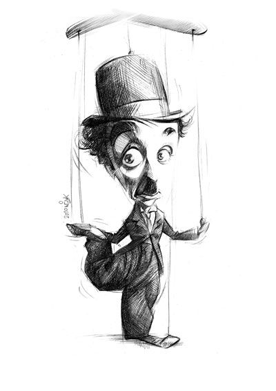 Charlie Chaplin, as envisioned by Alireza Bagheri. Brenton Film silent