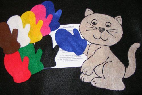 Felt Flannel Board Story Kitten's Mittens Circle Preschool | eBay