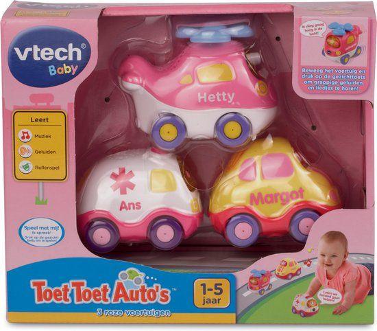 VTech Toet Toet Auto's - 3 Roze Voertuigen