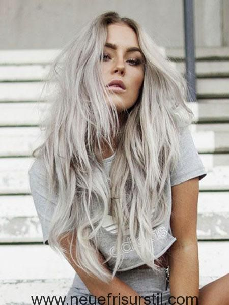 25 Platinum Blonde Lange Frisuren Neue Frisur Stil Frisuren In