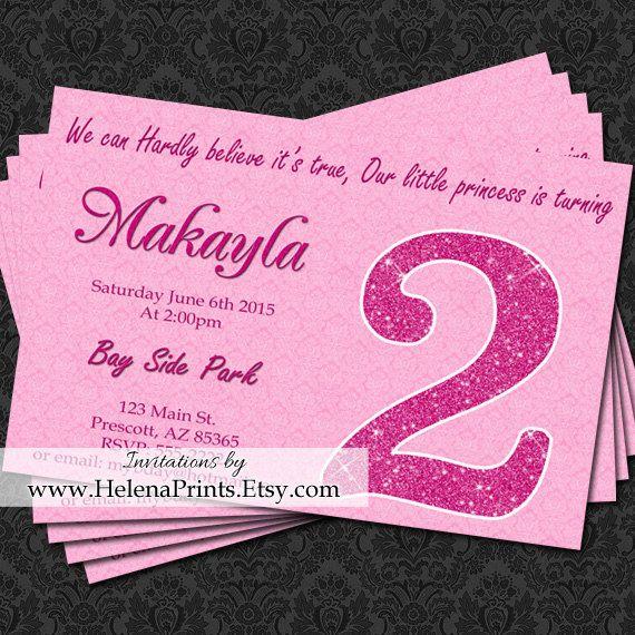SECOND birthday invitation 2nd Birthday by HelenaPrints on Etsy