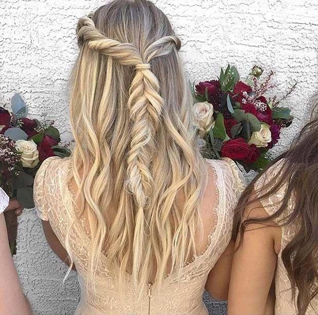 Twists and Fishtail Braid Half Updo