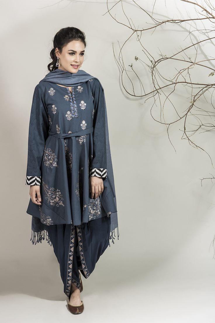 DW-1964 Blue 3 PC - MARIA.B Winter Collection 2016