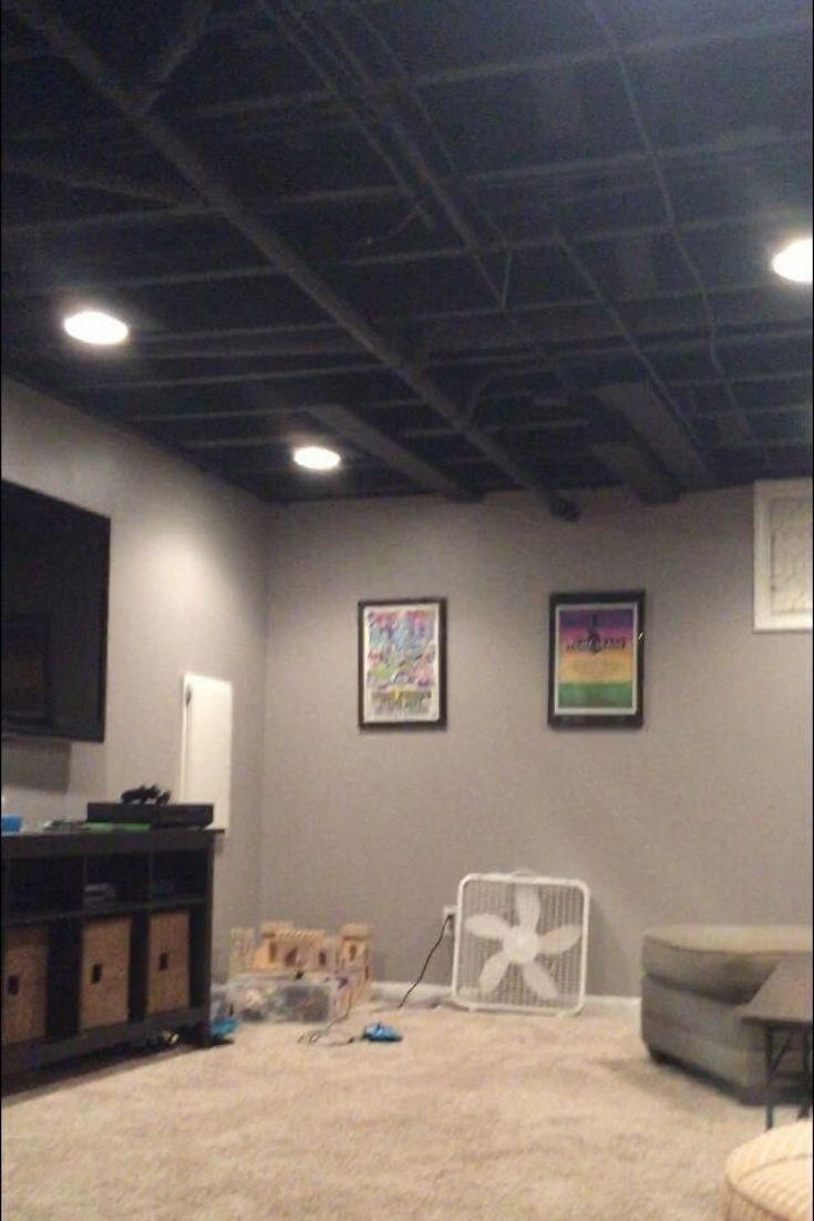 Finish Basement Ideas Step To Finish Basement Floor And Ceiling Basement Ceiling Basement Remodeling Home