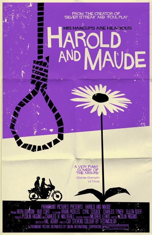 Harold and Maude vintage style movie poster by TeamWelser on Etsy