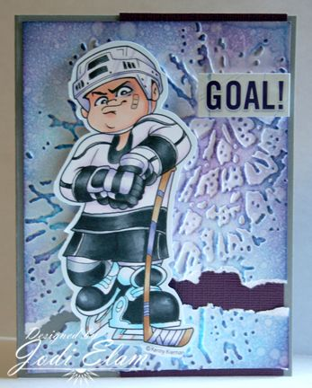 Hockey Dude by elamdesign33 - Love the use of the cracked embossed background here.