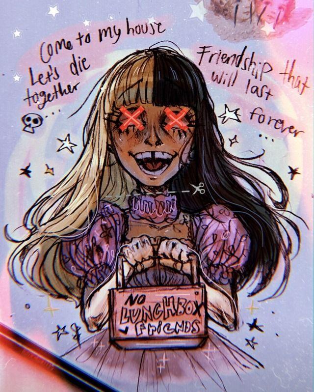 Crybaby Lunchbox Friends K 12 Melanie Martinez By Sarahdraws16 Tumblr Melanie Martinez Anime Melanie Martinez Melanie Martinez Drawings