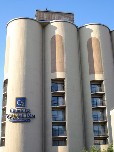 Akron, OH - the rooms are circular - an old grain silo turned into a hotel. stayed here once. it was amazing.