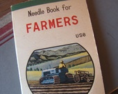 Vintage Needle Book for Farmers Use with  HUGE Needles
