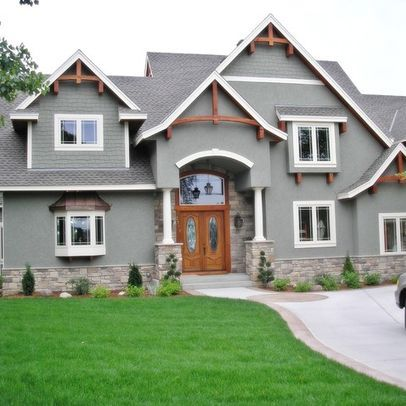 17 best images about stucco is ok on a craftsman on for Craftsman exterior trim details