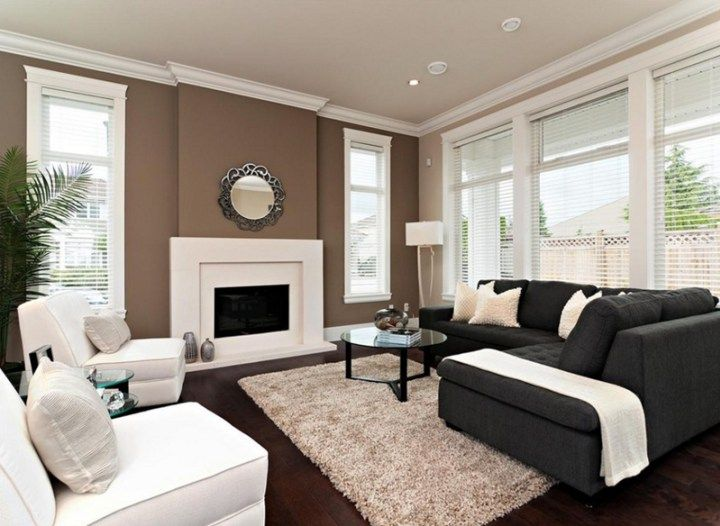 Best 25 chocolate brown walls ideas on pinterest brown - Chocolate brown and white living room ...