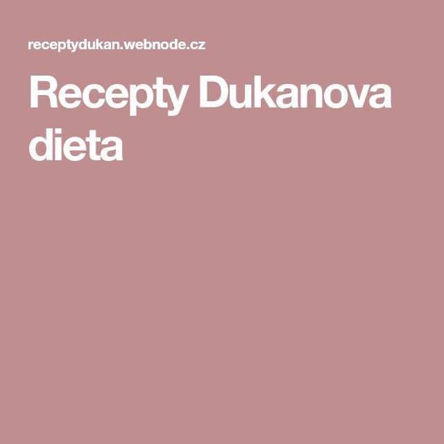 Recepty Dukanova dieta