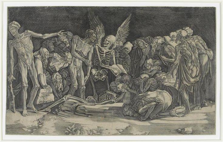 """""""Les squelettes"""" (dit) Veneziano Agostino (1490-1540), Agostino dei Musi. Paris, musée du Louvre, collection Rothschild - Photo (C) RMN-Grand Palais (musée du Louvre) / Thierry Le Mage"""