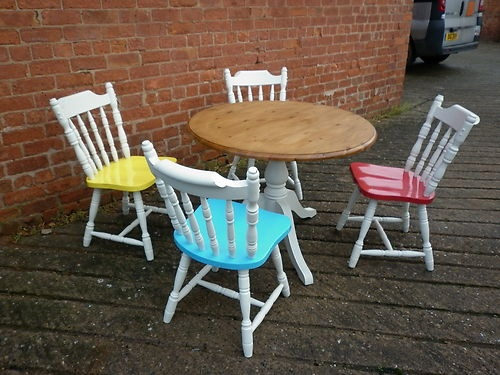 painted table and chairs find this pin and more on dining set