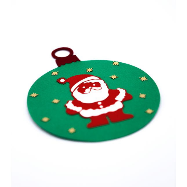 Handmade Christmas ornaments made by applying multiple layers of cardboard. #Christmas #Ornaments