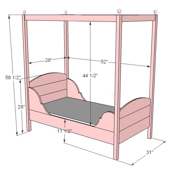 Ana White | Build a Lydia Toddler Bed | Free and Easy DIY Project and Furniture Plans