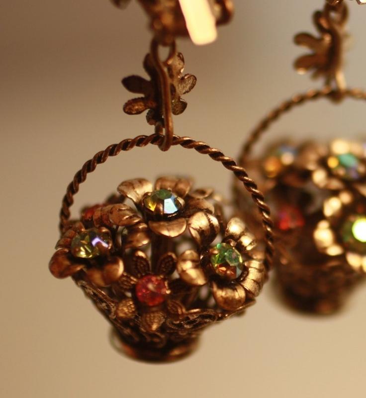73 best Basket Earrings Jewelry images on Pinterest   Basket of ...