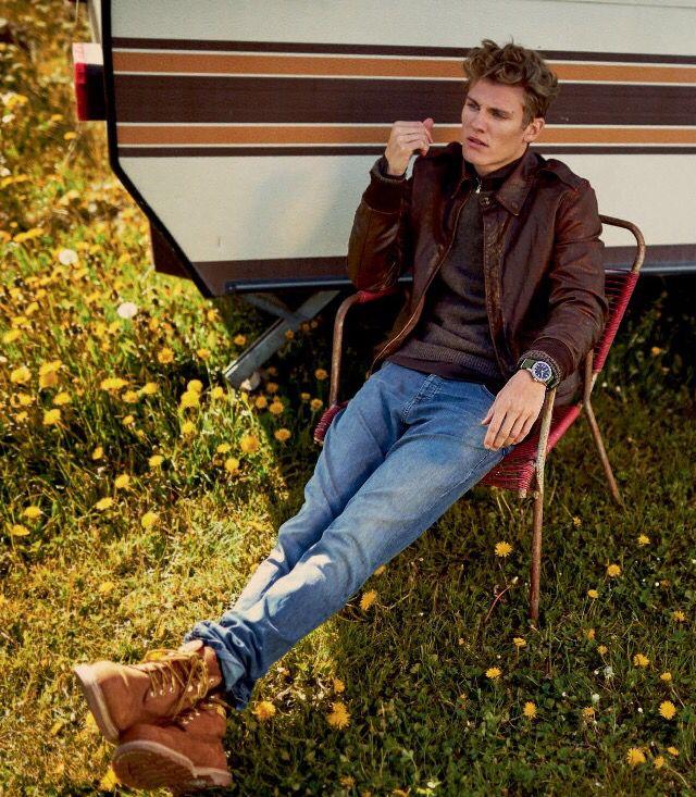 Mikkel G. Jensen, Euroman. D&S Ralph Lauren jacket, Sand jeans, Caterpillar boots, ph. Jonas Bie