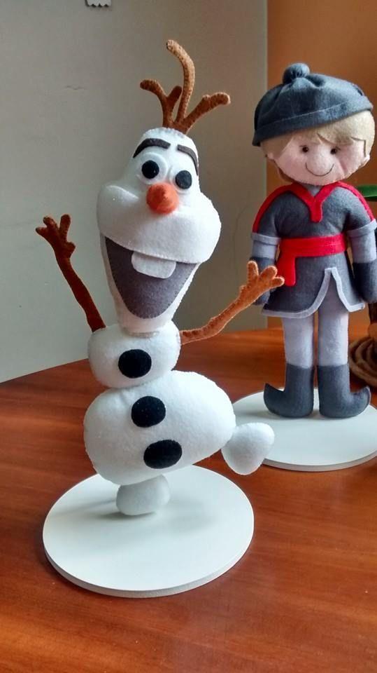 Olaf em feltro ... Festa Frozen ....