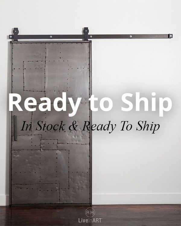 Mountain Scrap Metal ™ Door + Top Mount Industrial Barn Door Hardware System | Rustica Hardware