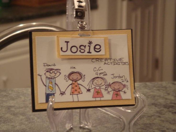 MOPS Name Tag by JosieBstampin - Cards and Paper Crafts at Splitcoaststampers