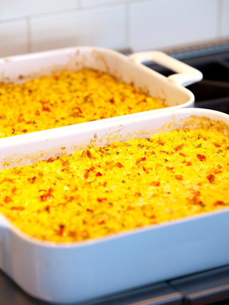 Fresh Corn Casserole with Red Bell Peppers and Jalapenos - The Pioneer Woman