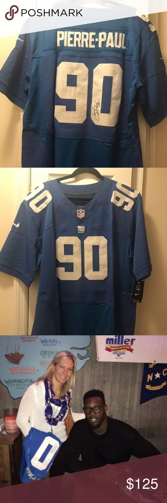 Jason Pierre-Paul New York Giants signed jersey XL This is an excellent quality, never worn, new with tags signed jersey by Jason Pierre-Paul from the New York Giants (JPP). He signed this in person. Nike brand, size 48 (XL). Price for signed jersey online runs for approx $150-$200. Nike Other