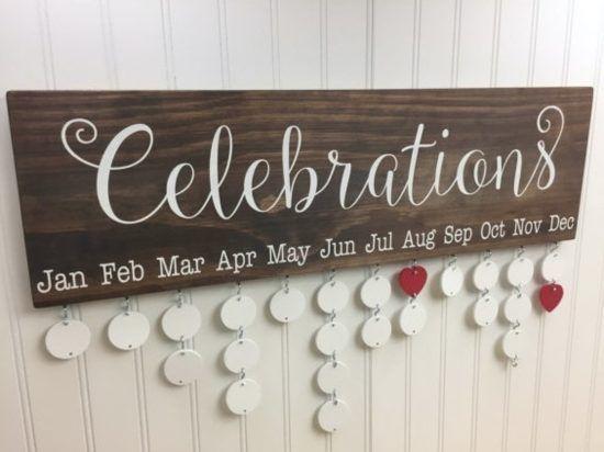 Wooden Family Calendar Birthday Wall Hanging Video Tutorial