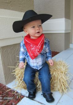 Cowboy costumes, No sew and Sew on Pinterest
