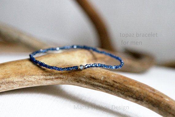 topaz center mens bracelet  // MariaHelenaDesign
