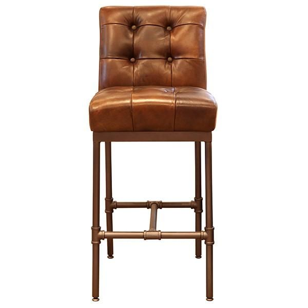 Astonishing Union Button Back Leather Bar Stool In 2019 Bar Stools Ibusinesslaw Wood Chair Design Ideas Ibusinesslaworg